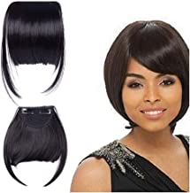 Iusun Extension Fringe Wig Female Air Bangs Hair Piece Double Temples Chemical Fiber Bangs High Temperature Wire