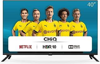 CHiQ L40H7N, 40 Pouces, Téléviseur Full HD, Smart TV, 1080p, WiFi, Bluetooth, Prime Video, Youtube, Netflix, 3 HDMI, 2 US...