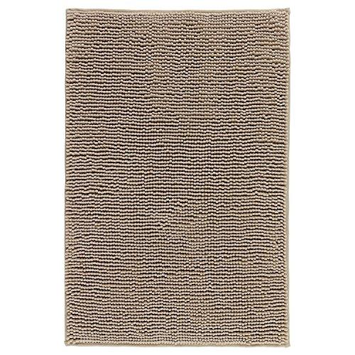 IKEA TOFTBO Mikrofaser-Badematte, 35 x 61 cm, 1,25 dick, ultraweich, super saugfähig, schnell trocknend (1, Beige) von Toftbo