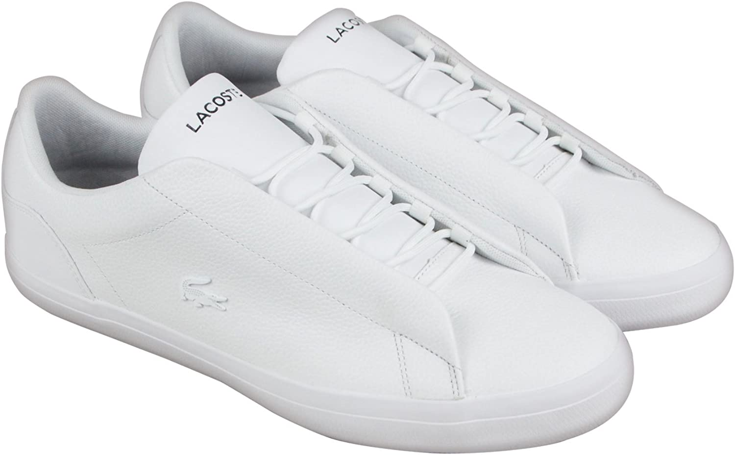 Lacoste Mens Lerond Hidden Lace 318 Leather Ortholite Casual shoes