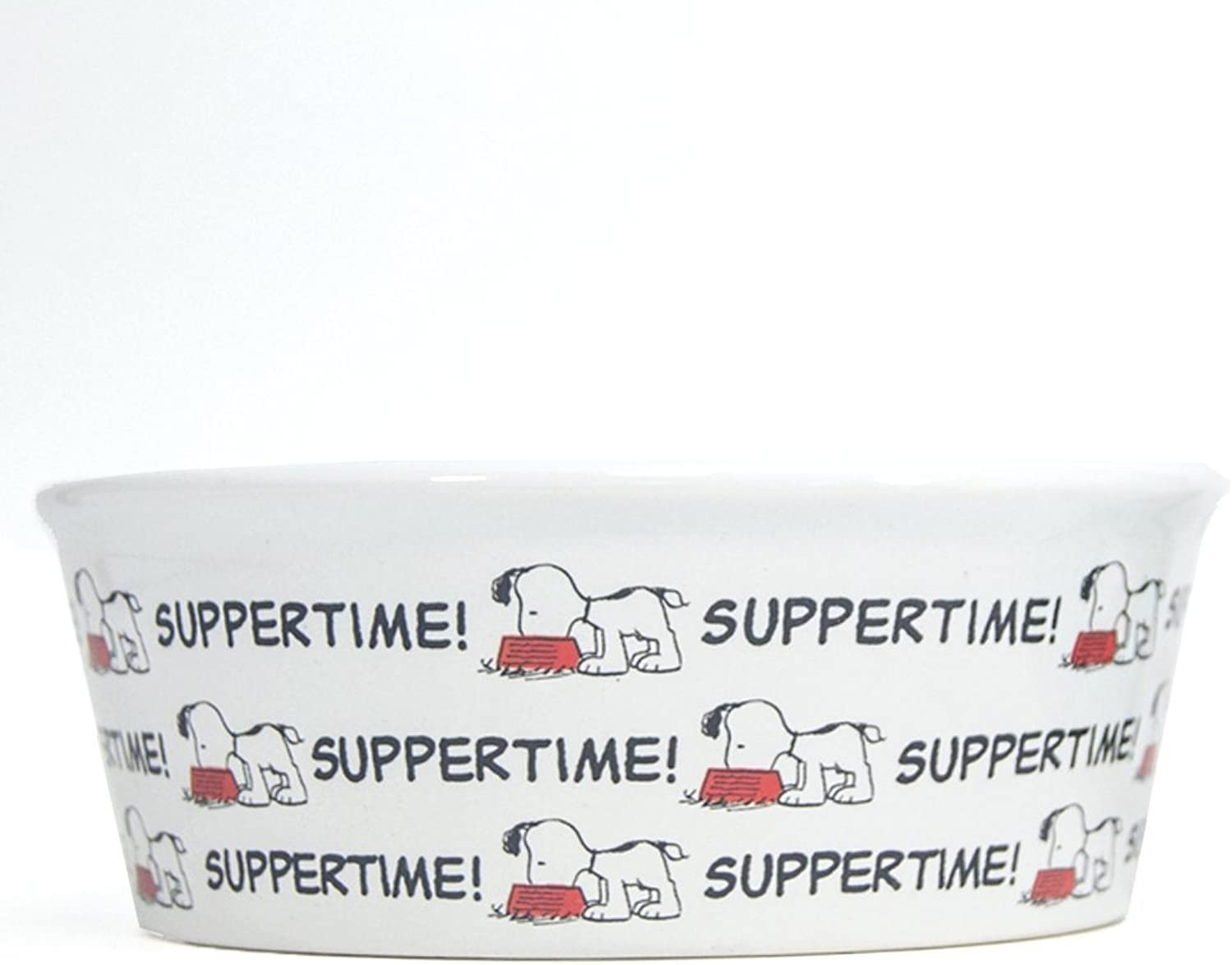 Classic Snoopy  Suppertime  round pet 2 bowl set of two
