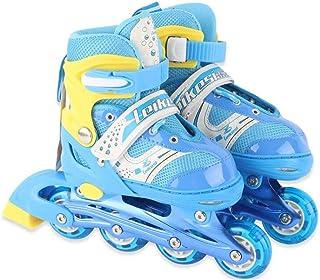 CHW Inline Skates with Light Up Wheels Adjustable Roller Skates for Kids Boys and Girls