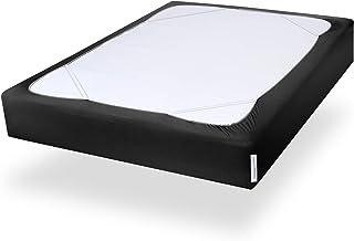 غطاء الربيع مربع من SPRINGSPIRIT مع مادة منسوجة ناعمة ومرنة، بديل ل السرير، حجم كينغ فقط، مقاوم للتجاعيد والبهتان، قابل لل...