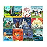 Julia Donaldson Collection 12 Books Set With BAG (The Snail and the Whale, Room on the Broom, The Gruffalo's Child, The Gruffalo, The Paper Dolls, Tyrannosaurus Drip, Cave Baby and More)
