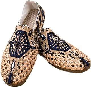 Tianrui Crown Men Handmade Espadrilles Shoe Slip-on Loafer Sandal Flat Shoe