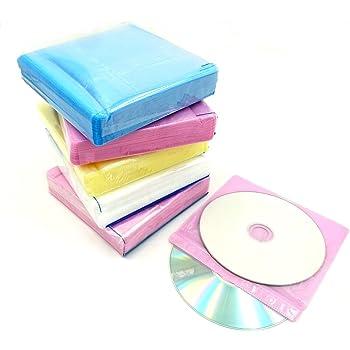 CD ケース DVD 不織布 500枚 入り 両面 収納 ファイリング 穴 あり (500枚)