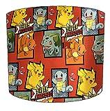 DELPH DESIGN LIGHTING LTD Abat-jour tambour pour enfant Pokémon 30,5 cm