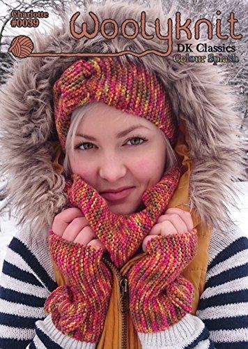 0039 - Charlotte - Breipatroon van Woolyknit| DK gebreid patroon | Accessoires| vrouwen Cowl, Hoofdband & Vingerloze wanten