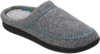 Dearfoams Women's Felt X-Stitch Clog Memory Foam Slipper