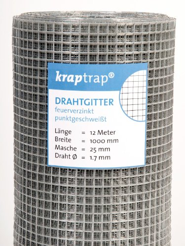 kraptrap® Volierendraht, Drahtgitter, 25 mm Masche (1m x 12m)