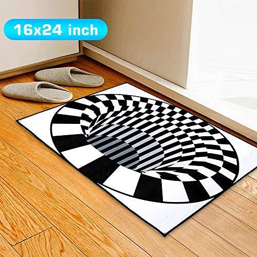 3D Bottomless Hole Optical Illusion Area Rug Carpet Floor Mat Home Living Room