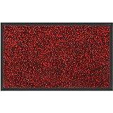 Skymico Alfombrilla Alfombrilla Antideslizante para Interiores y Exteriores Descontaminación, Antideslizante, Lavable, de Alta Absorción de Agua, Adecuada para Cocina (Rojo Negro, 120 x 180 cm)