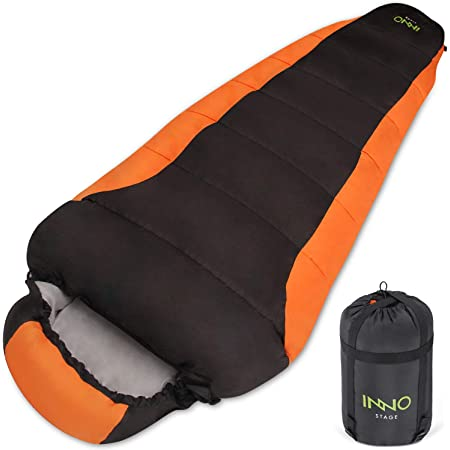 and Outdoor Activities 3 Season Sleeping Bags Warm Waterproof- Ideal Camping Gear for Adults /& Kids,Traveling Hiking Bessport Lightweight Sleeping Bag with Compression Sack