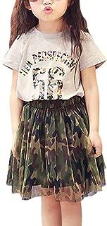 Girls Toddler Children's Shirt Top Cute Camouflage Tutu Skirt Outfit Set