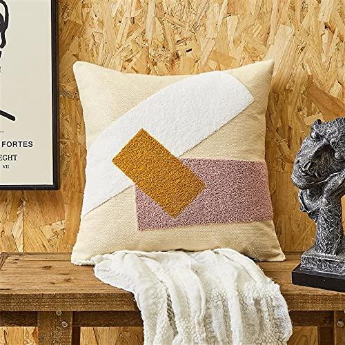 QMZ Fundas de Cojines Flor de Terciopelo 3D artesanía Lienzo de algodón de Densidad Fina (sin núcleo Interior) Decoración de sofá Minimalista Moderna 45cm.
