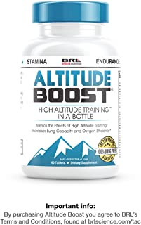 "ALTITUDE BOOST - #1 Endurance Supplement - ""Mimics the Effects of High Altitude Training"" - Increases Lung Capacity and Oxygen Efficiency, 60 tablets"