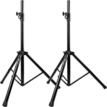 Tripod Speaker Stands Pair - Height Adjustable from 43-73 Inch - 35mm Compatible Insert for DJ, PA Speaker - Heavy Duty Tripod Speaker Holder Hold up to 110lbs (Model: PSTSS1)