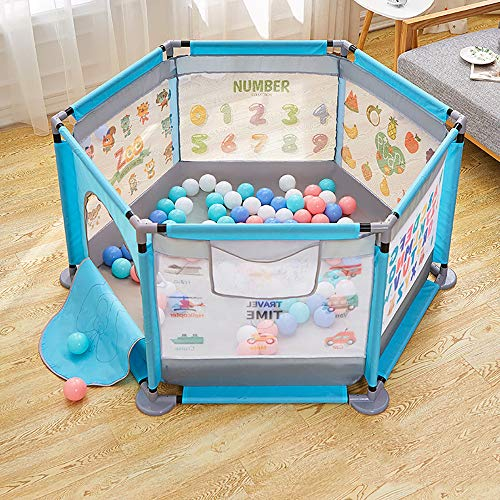 WANGCY Laufgitter Baby Mit Matratze, Kleiner Laufstall Baby Hochfestes Und Robustes PVC-Rohr Starke Tragfähigkeit Nicht Leicht Verformt Doppelzugring Design Übung Baby Fähigkeit