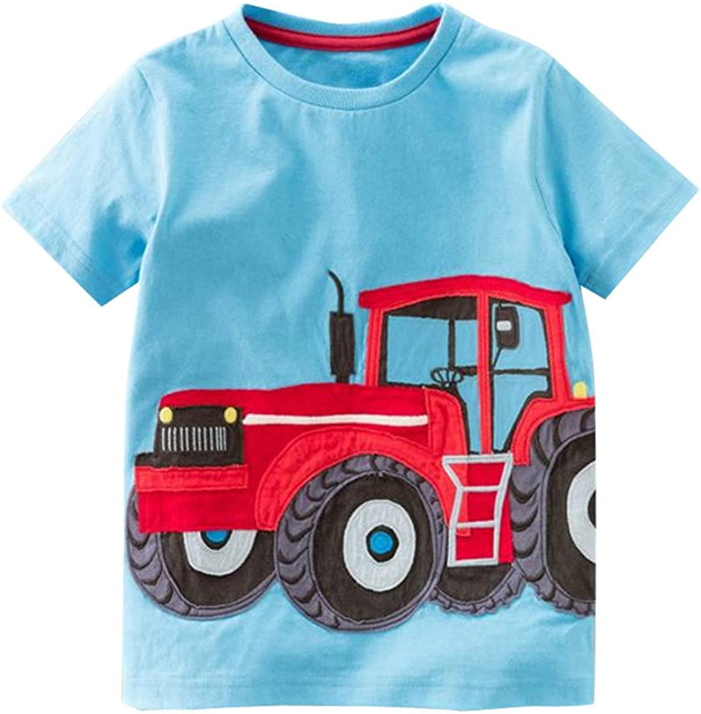 YKARITIANNA Toddler Kids Baby Boys Girls Clothes Short Sleeve Cartoon Tops T-Shirt Blous