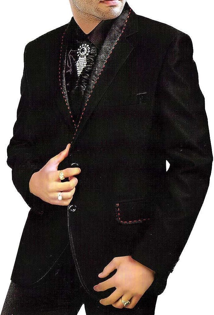 INMONARCH Mens Black Tuxedo Prom Suit Latest Wedding 5 Pc TX103
