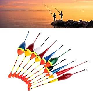 ULKEME10pcs Carp Fishing Floats Set Buoy Bobber Stick For Fish Tackle Vertical Mix Size