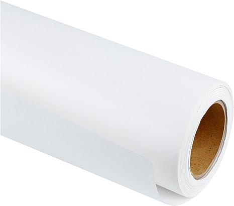 RUSPEPA Rollo De Papel Kraft Blanco - 61 Cm X 30 M - Papel Reciclado Perfecto Para Manualidades, Arte, Envoltura De Regalos, Embalaje, Postal, Envío, ...