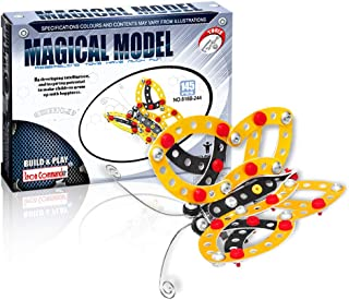 IRON COMMANDER Kid Erector Set, Metal Insect Model Assembly and Decoration Education Toy for Ages 13 and Up (Butterfly)