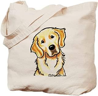 CafePress Golden Retriever Portrait Natural Canvas Tote Bag, Reusable Shopping Bag