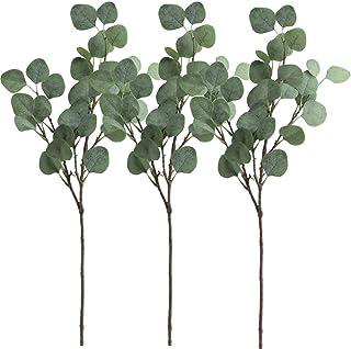 Gshy - 3 Ramas de eucalipto Artificiales para Fiestas, Bodas