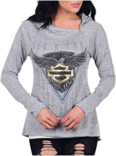 Women's 115th Anniversary Hooded Cowl Neck Long Sleeve Shirt