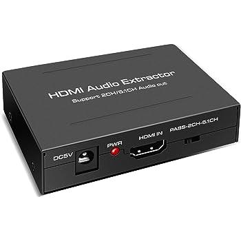 1080P HDMI auf zu HDMI Optischer SPDIF RCA R//L Audio USB Kable Splitter Adapter