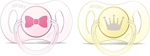 Philips Avent Silicone Mini Soother, 0-2 Months Pink (Pack Of 2)