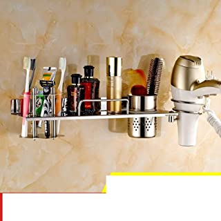 CHUTD Support de sèche-Cheveux, étagère pour sèche-Cheveux, Support de sèche-Cheveux, Support de sèche-Cheveux en Acier In...