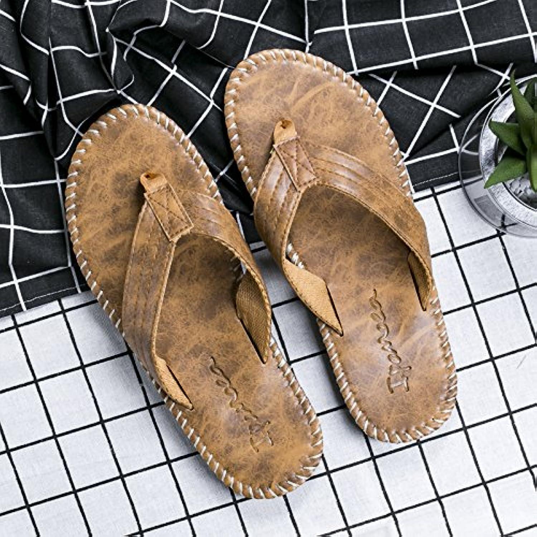 AIHUWAI Sandals Men'S Sandals Non-Slip Men'S Slipper Brand Summer Wear Korean Beach shoes Sandals Flip-Flops Men