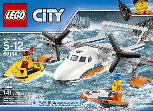 Ensemble de Construction LEGO City - Avion de Sauvetage en Mer de la Garde Côtière, 141 pièces - 1