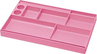 Acrimet Drawer Organizer Bin Multi-Purpose Storage for Desk Supplies and Accessories (Plastic) (Pink Color)