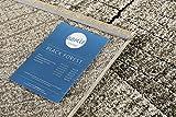 Homie Living I Moderner Kurzflor Designer Teppich in pflegeleichter Holzoptik I Black Forest (80 x 150 cm, Beige Braun Schwarz) - 5