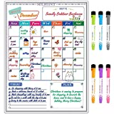 MyLifeUNIT Magnetic Calendar for Refrigerator, Dry Erase Board with Monthly, Note, Today and Planner 4 in 1
