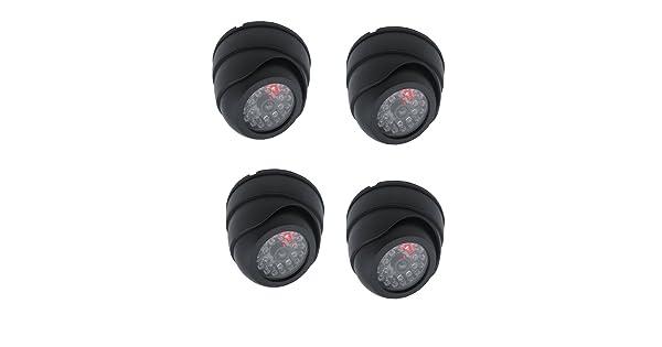 Henxlco 4 Pack Dome Dummy Fake Infrared IR CCTV Surveillance Security Cameras Imitation Simulated Blinking LED CCTV Surveillance LYSB00TI7GVI6-ELECTRNCS