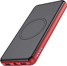 Wireless Portable Charger 26,800mAh 10W Wireless Charging+PD(18W )3.0 Fast Charging power bank 【2 Fast Charging Port + Sim...