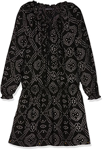Antik Batik Damen Strandkleid Ly, Schwarz (Black/White), 42