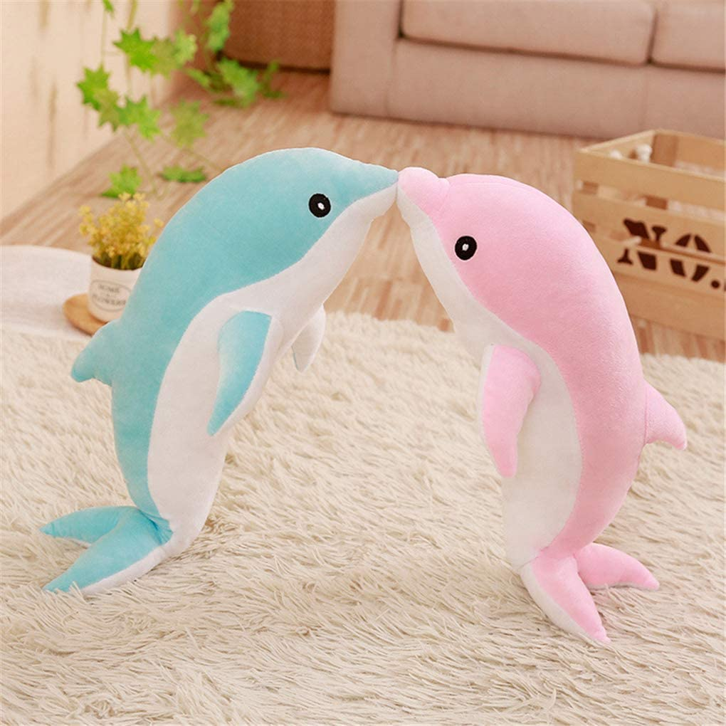 Yxiang Dolphin Plush Toy Loyal Friend Child Christmas Halloween Activity Toy Gift red