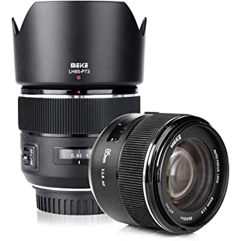 Meike 85mm f1.8 Large Aperture Full Frame Auto Focus Telephoto Lens for Canon EOS EF Mount Camera Compatible with APS C Bodies Such as 1D 5D3 5D4 6D 7D 70D 550D 80D