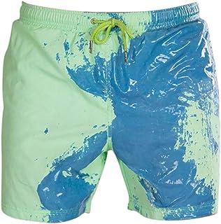 FONMA Summer Child Beach Shorts Temperature-Sensitive Color-Changing Short Pants Swim Trunks