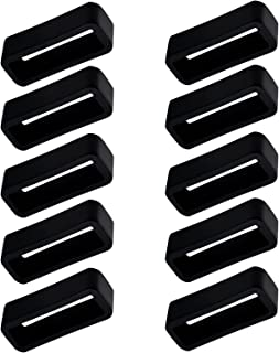 10pcs Watch Band Strap Loop, 22mm Fastener Rings Replacement, Watch Strap Holder Keeper Loop