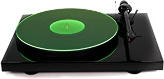 Acrylic Turntable Mat - GreenLit - LP Slipmat