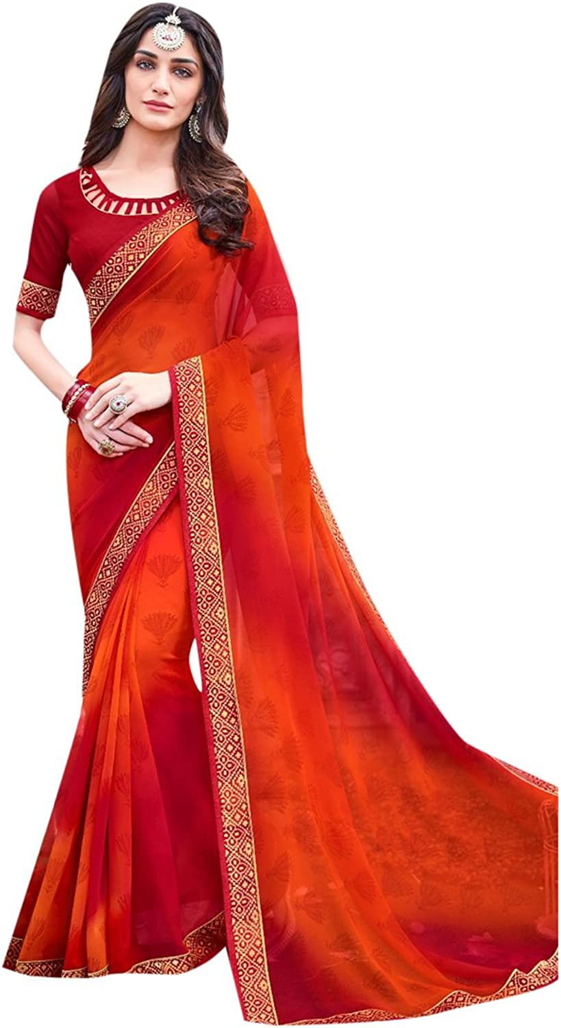 Designer Bollywood Saree Sari Printed Women Latest Indian Ethnic Wedding Collection Blouse Party Wear Festive Ceremony 28118