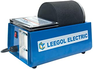 Leegol Electric Hobby Rock Tumbler Machine – Single Drum 3LB Rock Polisher (Single Barrel)