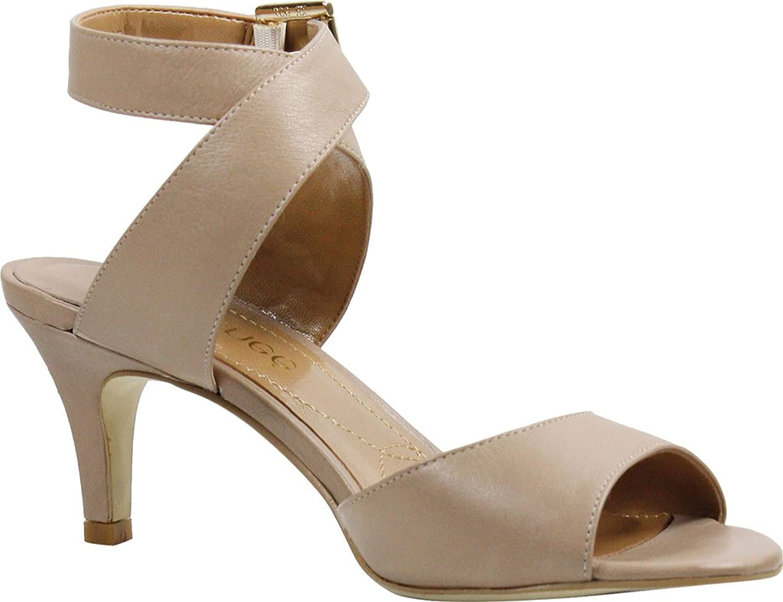 J. Renee Renee Woherren Soncino Criss Cross Ankle Strap Mid Heel Sandal,Nude Nappa Leat  offizielle Genehmigung