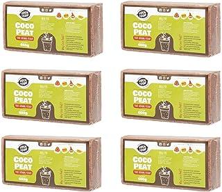 Coco & Coir Everything in a nutshell - Juego de 6 Ladrillos de Fibra de Coco (650 g), Color marrón